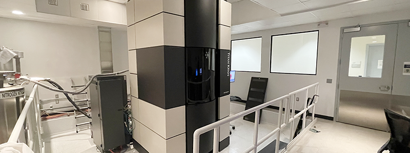 Titan Krios Suite at the Sanford Burnham Prebys (SBP) Medical Discovery Institute. Photo courtesy of Dr. Francesca Marassi, SBP.