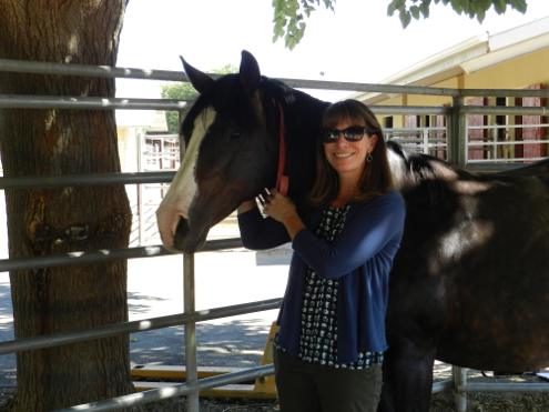Dr. Carrie Finno and her horse Ruthie